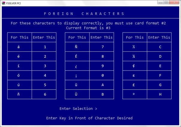 Foreign Characters