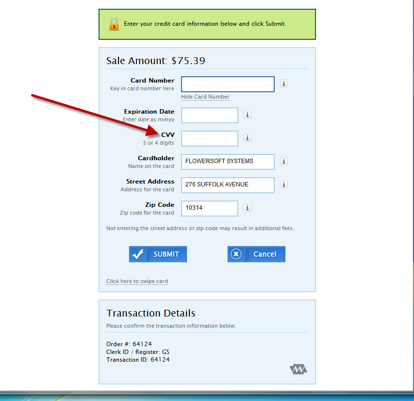 Tip #134 - Credit Card Approvals - No CVV Code Available (1/6)