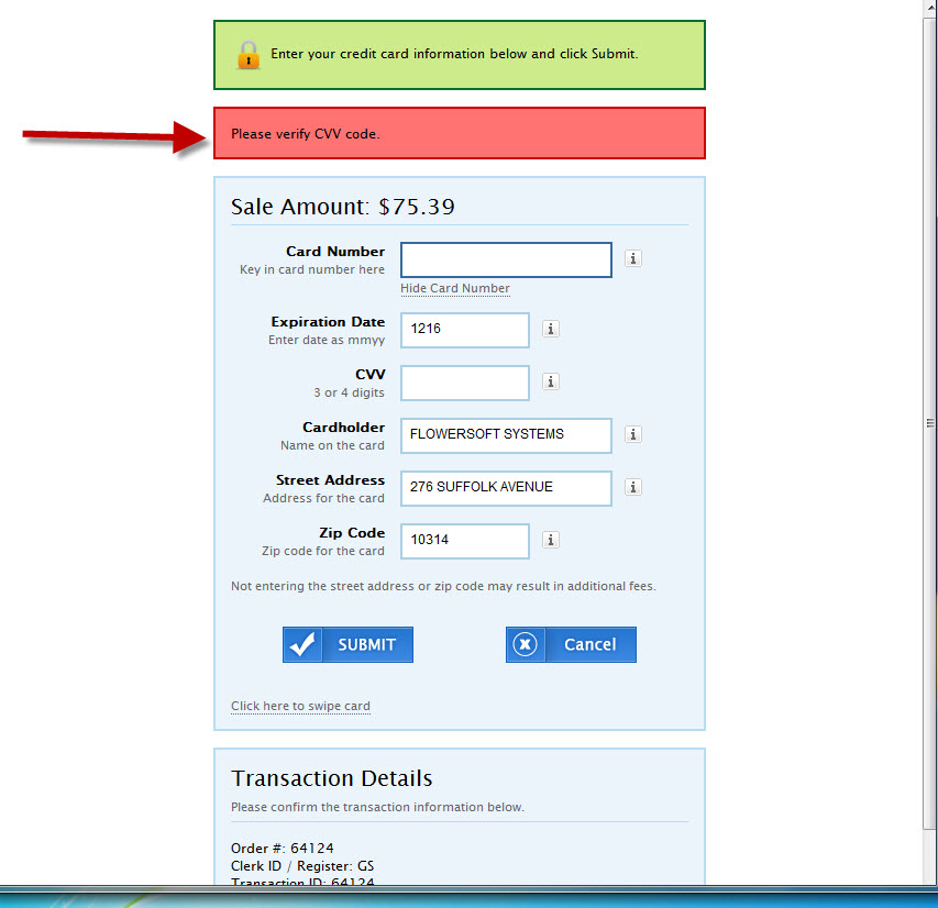 Tip #134 - Credit Card Approvals - No CVV Code Available (2/6)